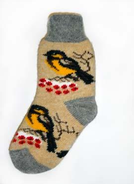 Носки  с птичками