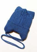 Шапка подрасковая Ушки Голубая 2