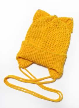 Шапка подрасковая Ушки Желтая 1