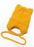 Шапка подрасковая Ушки Желтая 2