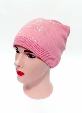 Шапка Банданка Светло-розовая 1 70-30
