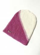 Шапка Боковязка (Розовый+Белый) 6
