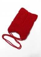 Шапка подрасковая Ушки Красный 2