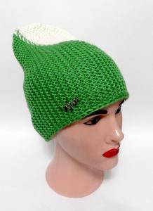 Шапка Боковязка (Зеленый+Белый) 1 70-30