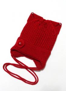 Шапка подрасковая Ушки Красный 1