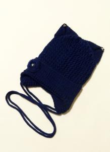 Шапка подрасковая Ушки Темно-синий 1